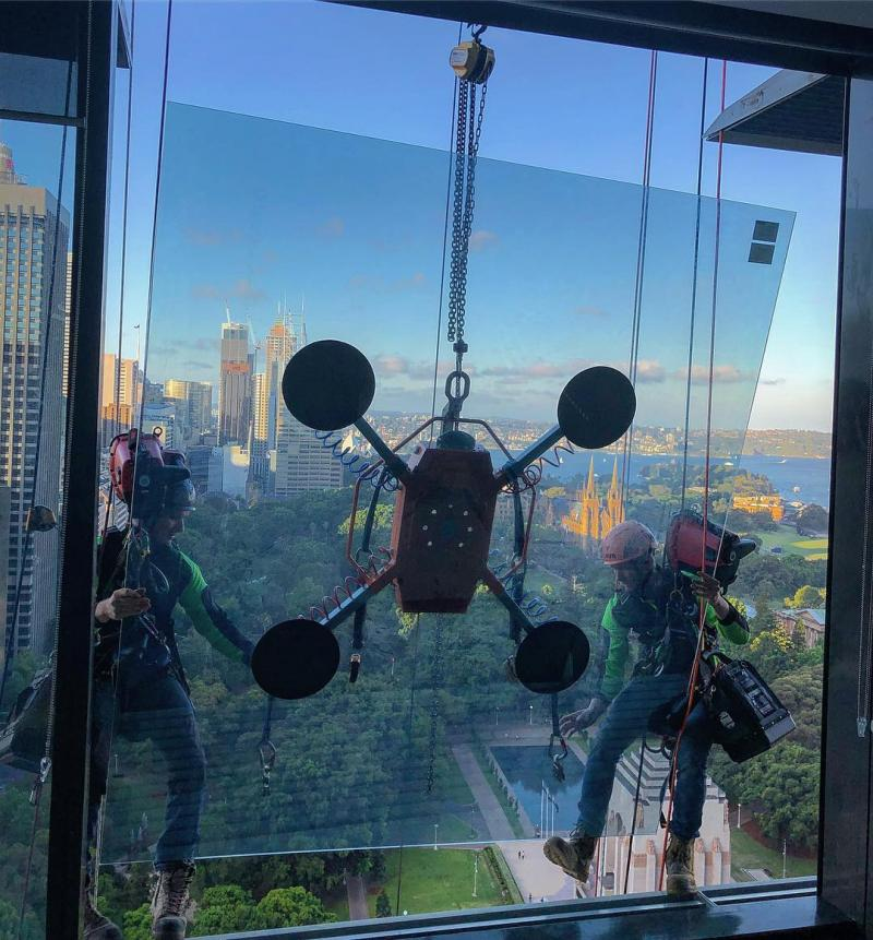 rope access glazing sydney
